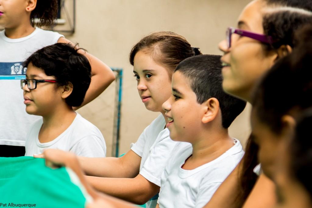 Uma das imagens da exposição, projeto realizado na Escola Municipal Floriano Peixoto, RJ.
